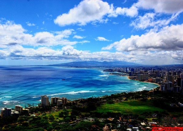 Beautiful view from Diamond Head Oahu