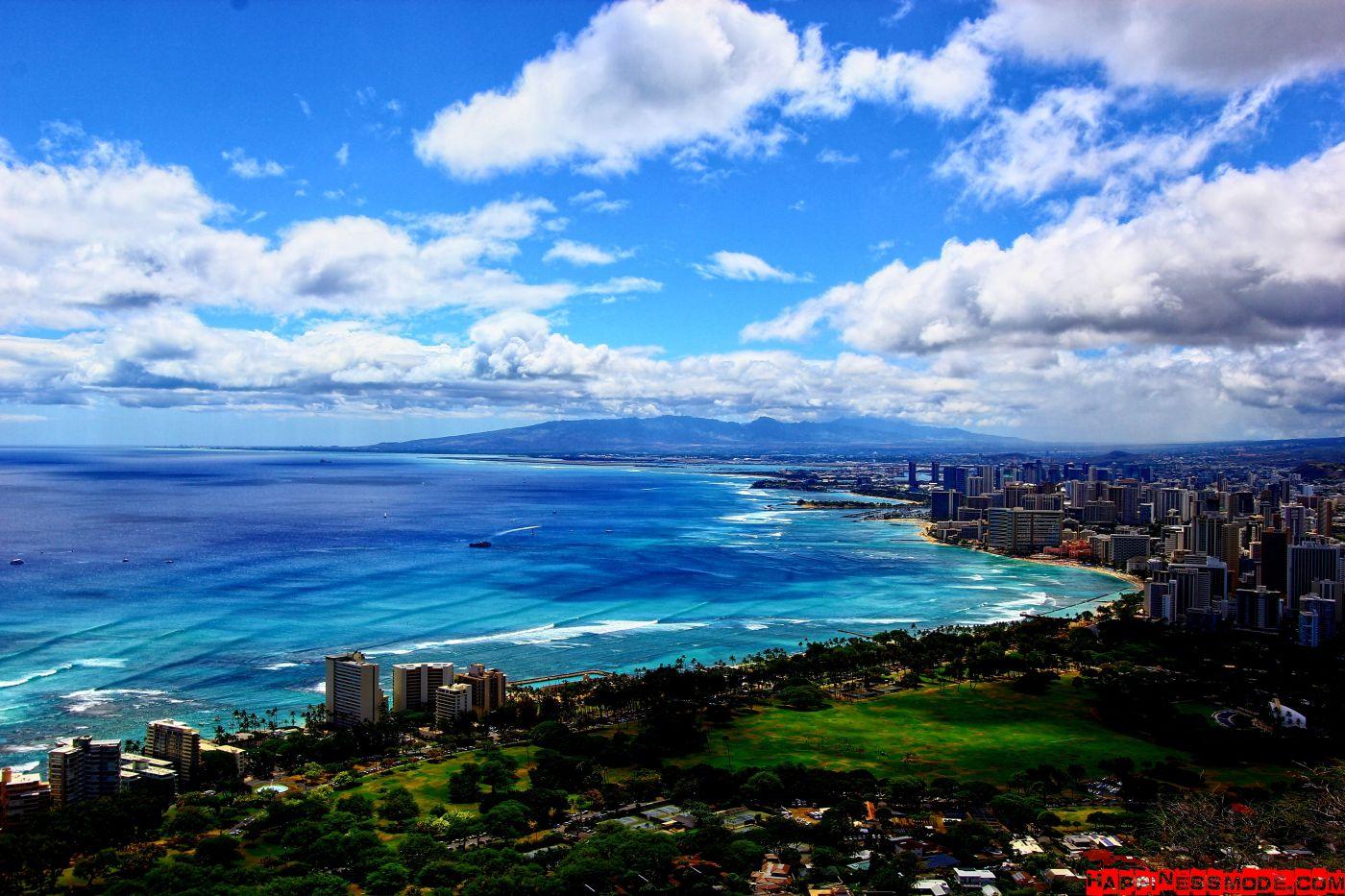 Beautiful view from Diamond Head Oahu