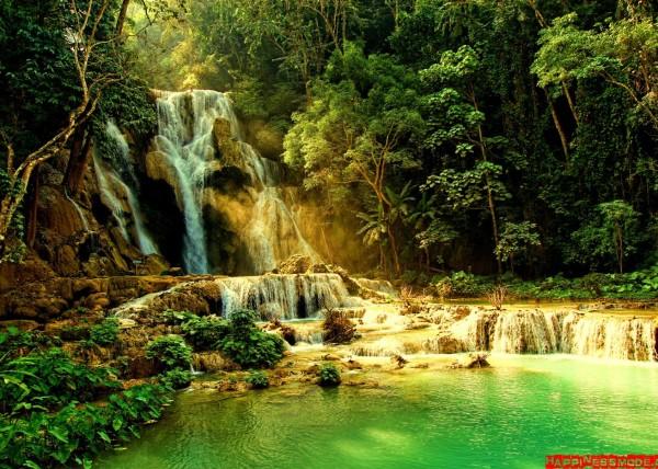 Kuang Si wodospady