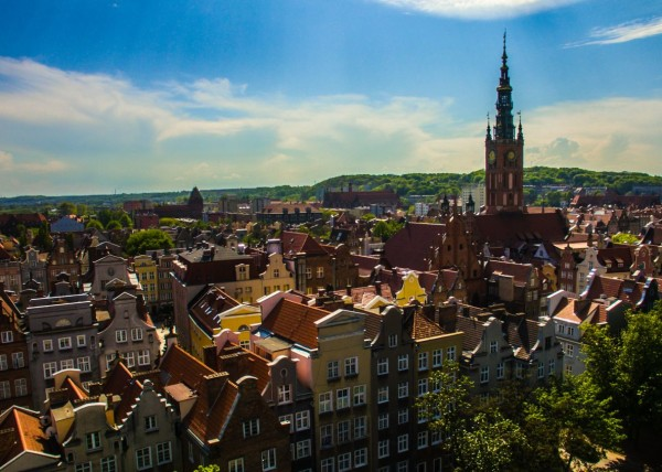 old town in Gdansk Poland dji phantom