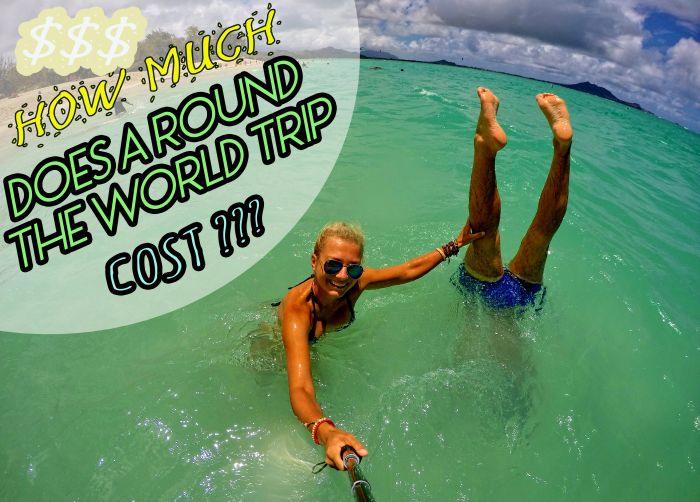 how much does around the world trip cost