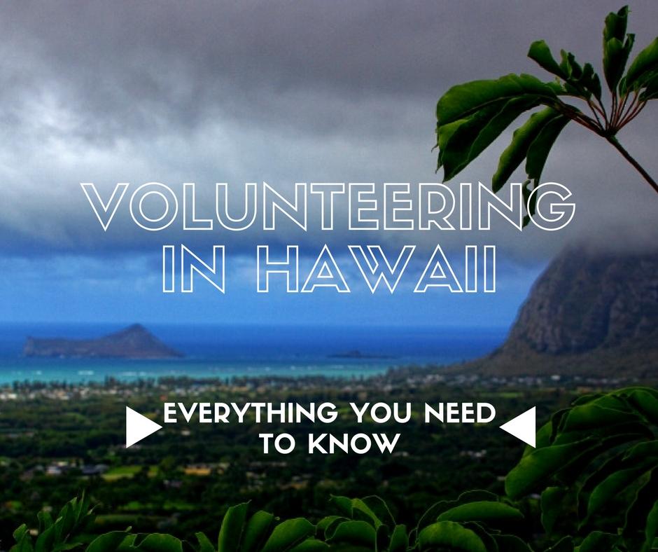 volunteer on hawaii