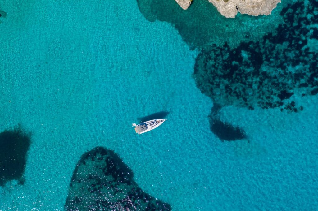 yacht photography drone mallorca